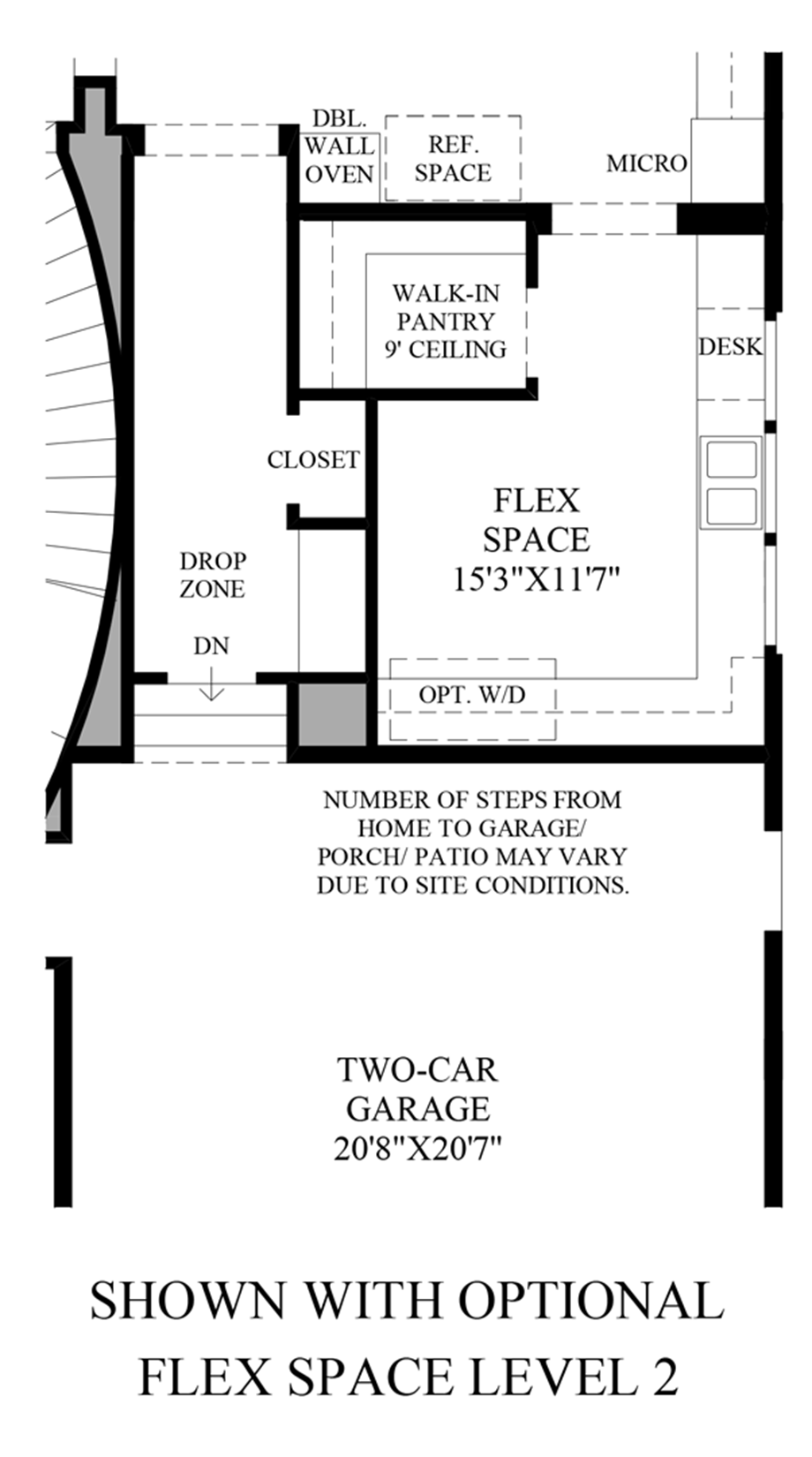 Optional Flex Space Floor Plan