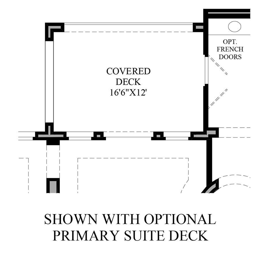 Optional Primary Suite Deck