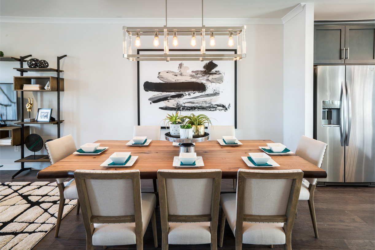 Dining room located just off of the kitchen