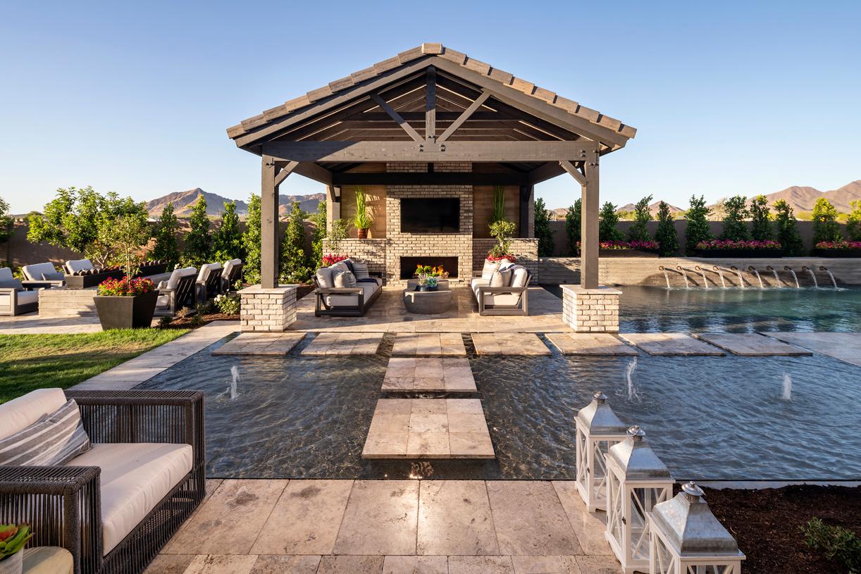 Beautiful backyard with views of San Tan Mountain Range