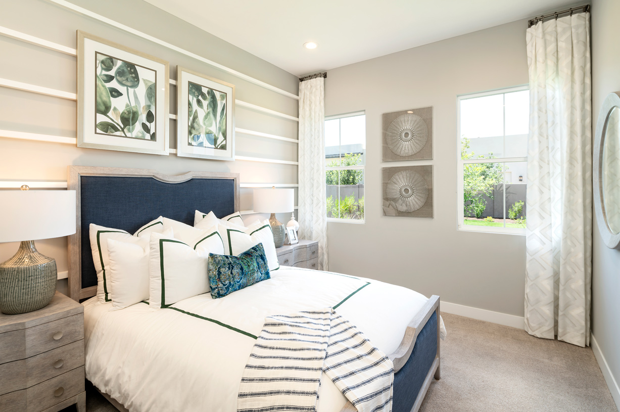 Spacious secondary bedrooms with ample natural light