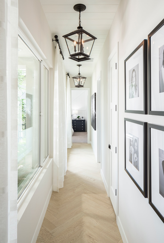 Beautiful hallways with accent features