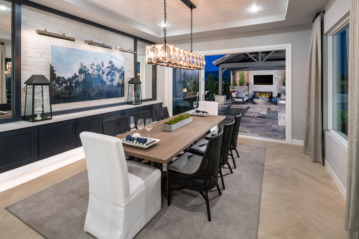 Formal dining rooms for entertaining