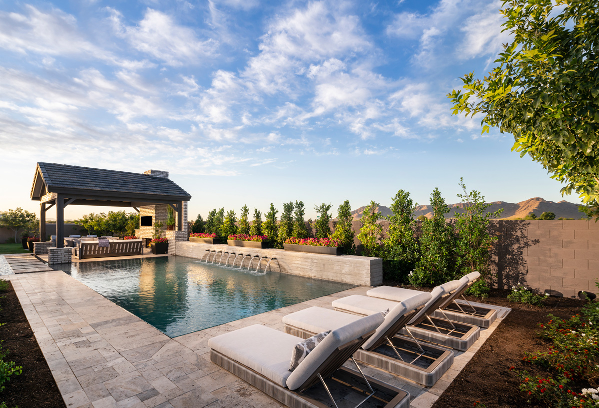 Estate-sized home sites ideal for outdoor pools