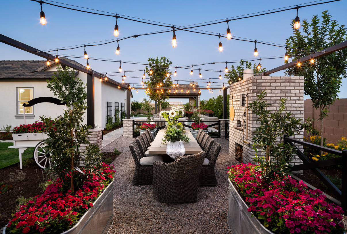 Spacious backyard with ample space to include seating