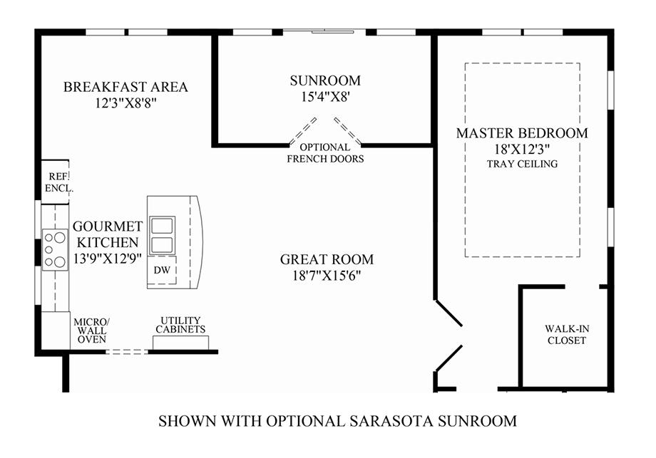 Optional Sarasota Sunroom Floor Plan