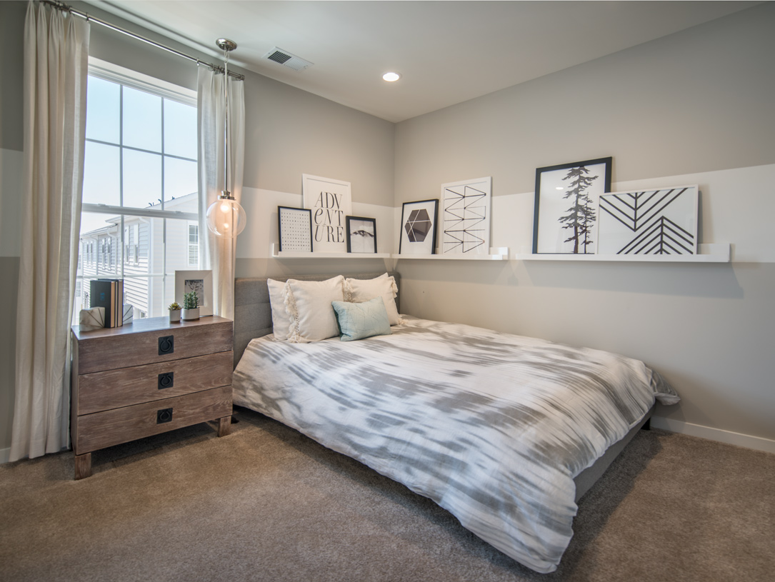 Third bedroom, shares a full hall bathroom with the second bedroom