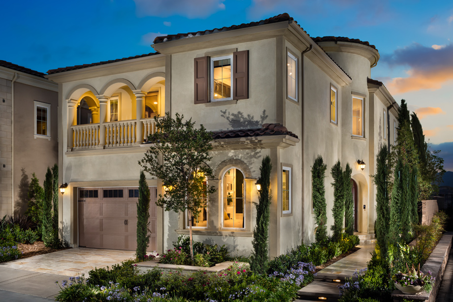 Front Elevation Luxury Homes : Avila at porter ranch glen collection the wildwood