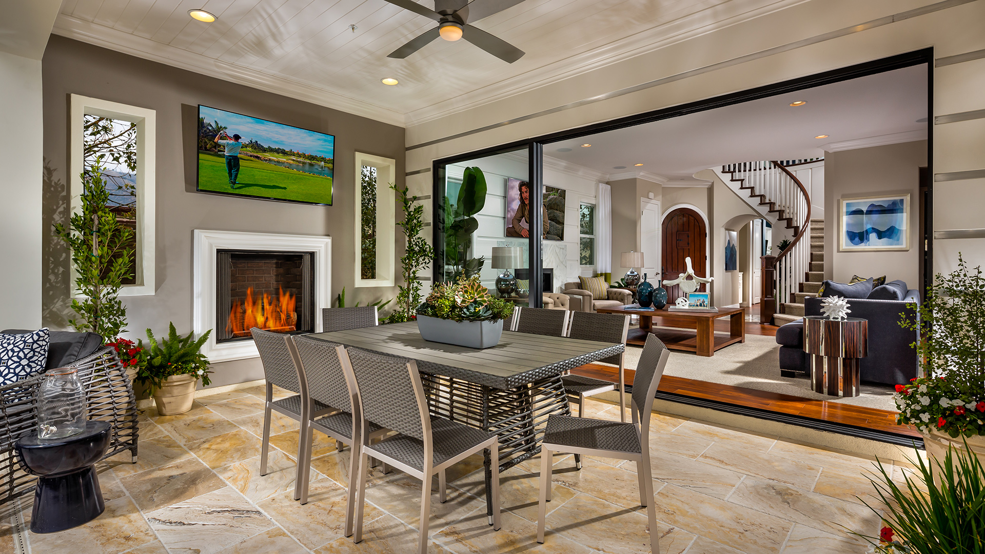 Avila at porter ranch glen collection quick delivery for Luxury outdoor living spaces