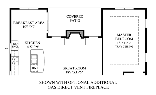 Optional Additional Gas Direct Vent Fireplace