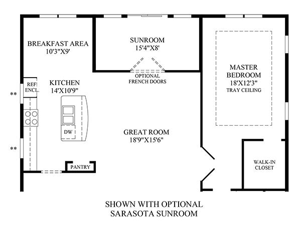 Optional Sarasota Sunroom