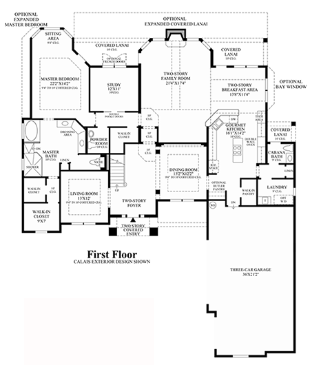 view floor plans Decorating a Two Story Room Pulte Family Room
