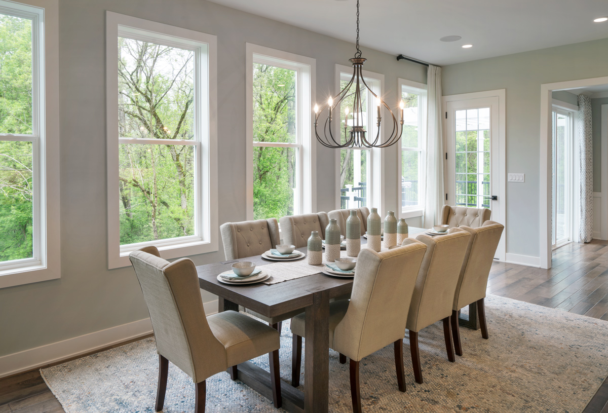 Light filled casual dining area
