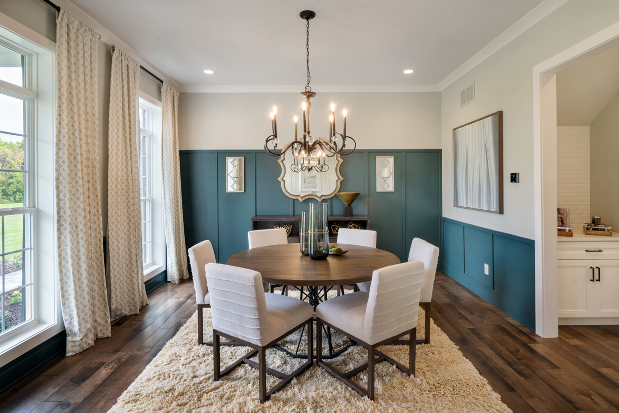 Formal dining room with butler's pantry