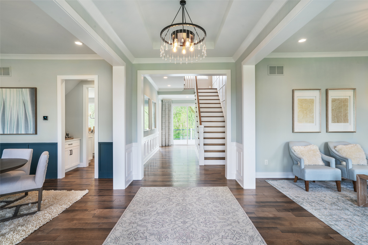 Impressive open foyer