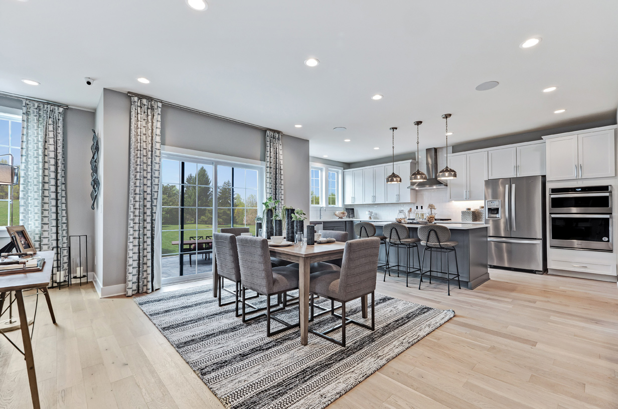 Gourmet kitchen and casual dining area