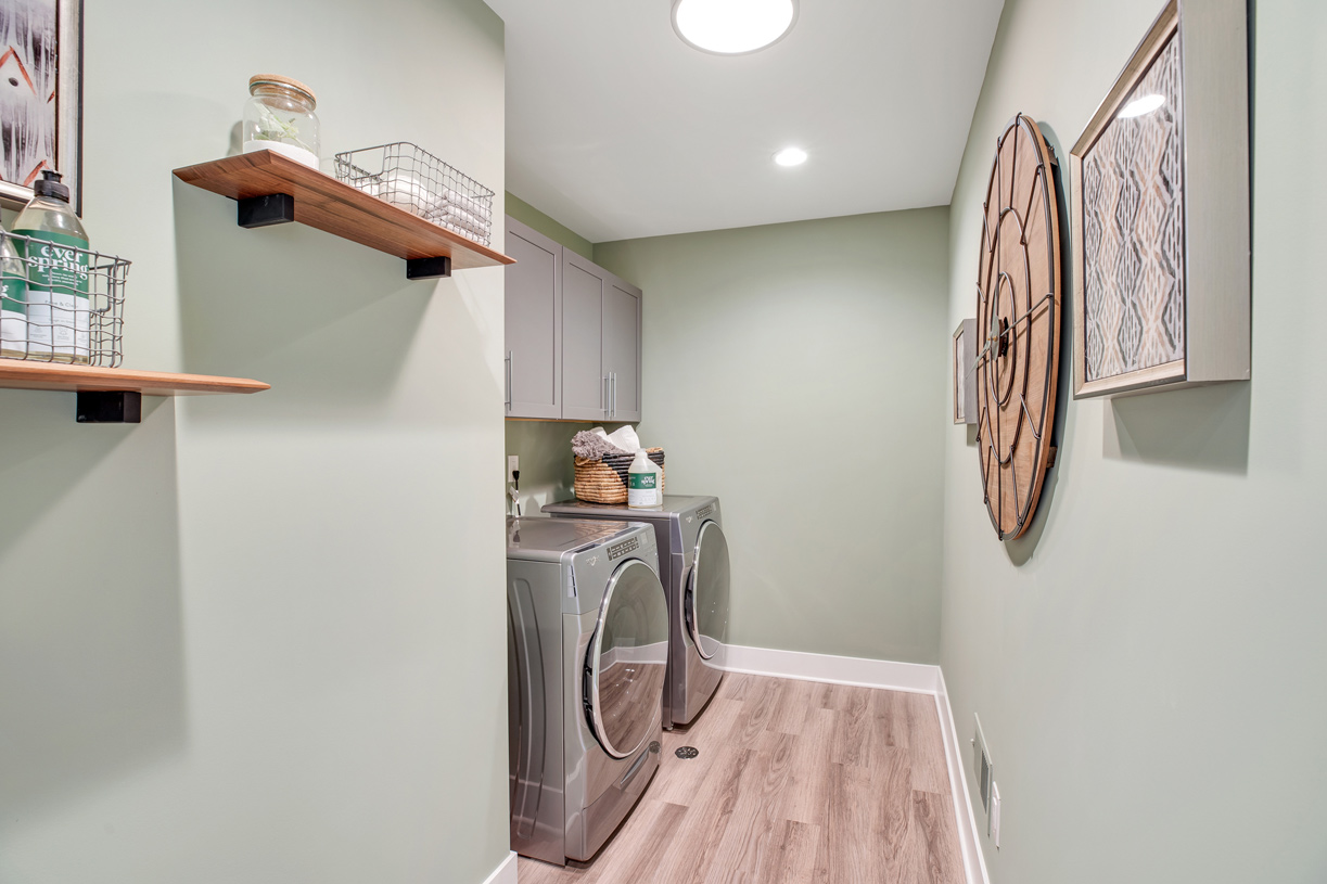 Convenient second-floor laundry room