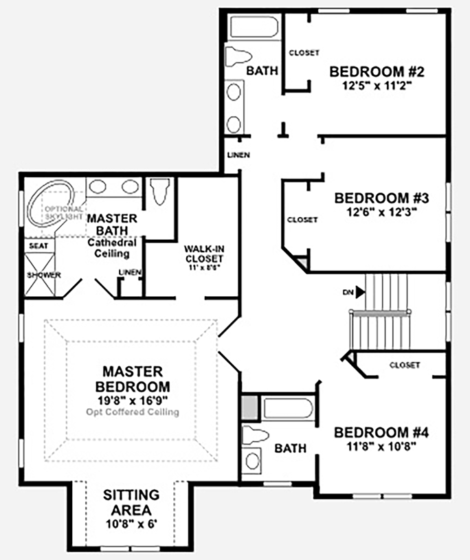 Haymarket va new homes for sale dominion valley country for Master bedroom with sitting area floor plan