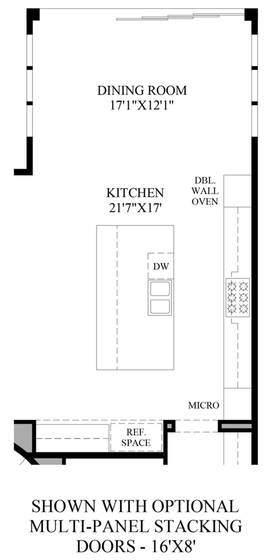 Optional Multi-Panel Stacking Doors Floor Plan