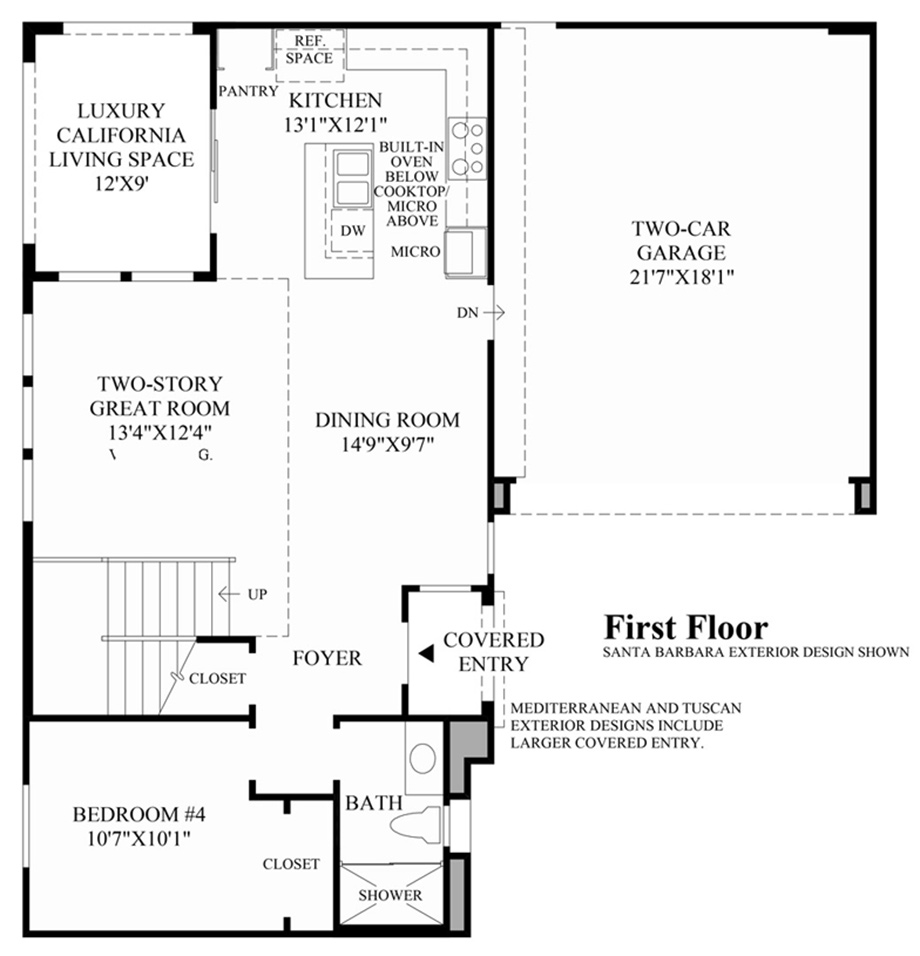 Parkview at baker ranch quick delivery home zion santa for Parkview homes floor plans