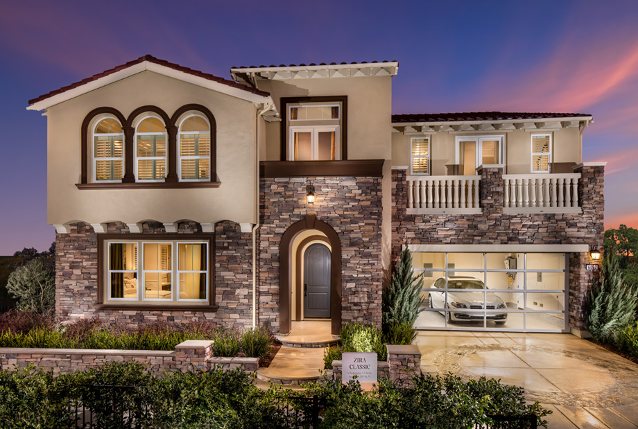 Capella at gale ranch the zira home design for Classic house elevation